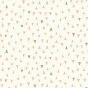 Doodle Days by Makower UK - 5476 -Taupe & Pink Triangles on Cream - 1878_P - Cotton Fabric